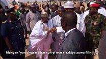 Bidiyon yadda Buhari ya je ta'aziya gidan Shagari