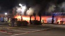 Fire rips through Belgrave Commercial Centre