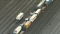 Lorries in no-deal Brexit fear exercise