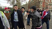 Brexit protesters chant 'scum' at Conservative MP