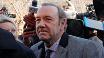Spacey appears in court on groping charge