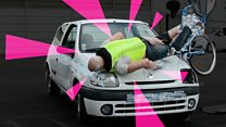 Crash-testing the air bag for cyclists