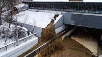 В Москве затопило Тушинский тоннель. Кадры очевидцев