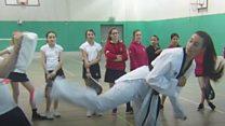Girls go for gold with Taekwondo champion