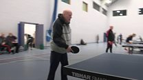 Table tennis champ still serving it up at 90
