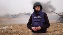گزارش اختصاصى بىبىسى فارسى از توپخانه نيروهاى آمريكايى در مرز عراق و سوريه