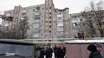 Взрыв в многоэтажном доме в Шахтах. Видео