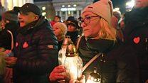 Vigils held to remember stabbed Polish mayor