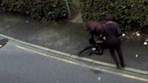 CCTV of 'vile' robbery released