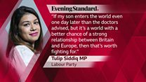 Pregnant MP 'wants to make a point'
