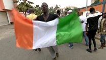 Supporters of Laurent Gbagbo celebrate his release