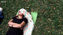 لماذا ينام هؤلاء النساء الهنديات في الأماكن العامة؟