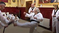 Taekwondo black belts for over 70s