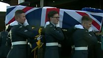 Hundreds attend RAF couple's funeral
