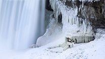 Ниагарский водопад замерз из-за сильных холодов