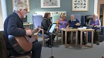 Sharing songs and tears at dementia clinic