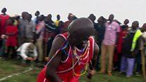 """Au Kenya, des """"J.O"""" Masai pour sauver le lion"""