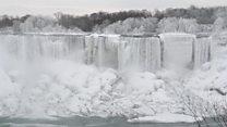 ¿Se han congelado las cataratas del Niágara?