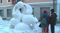 ICYMI: Snow sculpture and a robot hotel
