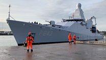 Dutch naval ship in UK port visit