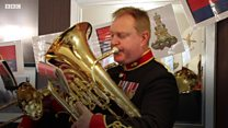 Army band plays to honour WW2 veteran