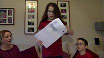 Pupils' joy at transfer test results