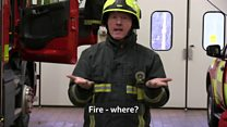 The firefighters learning sign language