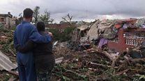 Así quedó La Habana tras ser devastada por un fuerte tornado.