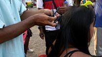 Selling their own hair