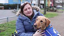 'My husband left and a dog became my carer'