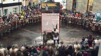 Up Helly Aa Vikings hit the streets