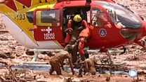 Presa de Brumadinho en Brasil: así fue el rescate de una de las sobrevivientes.