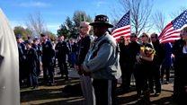 Strangers turn up to veteran's funeral