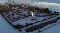 Windmills in the snow
