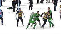 Снежное регби: новая дисциплина все популярней в России