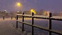 Wintry weather brings snowy scenes to NI