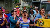 مخالفان طرفدار رئیس جمهوری خودخوانده ونزوئلا دوباره به خیابانها آمدند