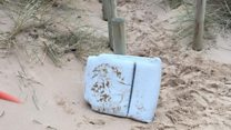 Walker finds 'cushion from missing plane'