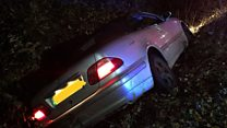 Car crashes into ditch
