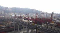 Genoa begins demolishing collapsed bridge