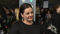 Melissa McCarthy on the Bafta red carpet