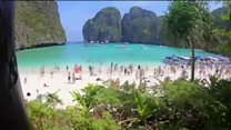 Timelapse video before and after Maya Bay closure