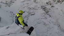 Base jumping on Ben Nevis