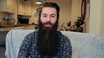 Shaving a 15 inch beard for a special cause
