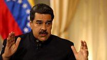 """Nicolás Maduro: """"Que nadie se meta en Venezuela y que este grupo extremista que está en la Casa Blanca sea derrotado"""""""