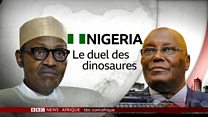 Au Nigeria, duel des dinausores entre Buhari et Atiku