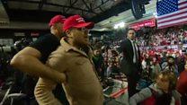 BBC'nin kameramanı Trump'ın bir mitingi sırasında saldırıya uğradı