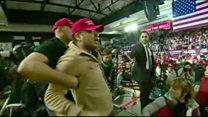 لحظة  اعتداء أحد مؤيدي ترامب على مصور بي بي سي
