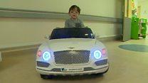 The mini hospital cars calming children