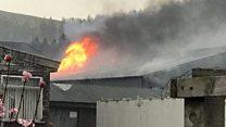 Blaze at Innerleithen industrial unit